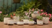 Black &White Ceramic Flower Pot, Mini Artificial Flower Pot, Cheap Flower Pots
