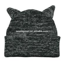knitting jacquard lovely animal hat