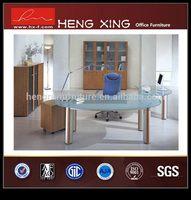 Good quality bottom price half round computer table