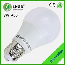 Energy saving 7w e27 A60 light bulbs led
