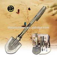 2015 Multi-Function Folding Shovel Axe Hoe Hammer Knife Flint Survival Tool