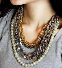 Fashion style heavy chain necklace alibaba supplier new design pretty cheap necklaces