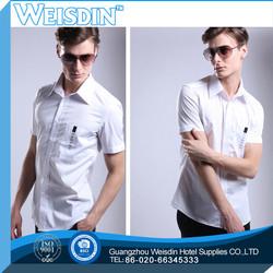 sales promotion hot sale polyester/cotton man shirt polka dot