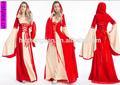 Adulto navio da gota carnaval instylesChina fornecedor traje Medieval partido traje fantasia traje vestido 2014 nova