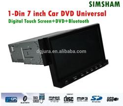 7 Inch 1 din car gps dvd bluetooth Raido player/7 inch 1din car dvd player