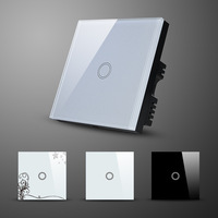 Good quality Touch Dimmer Switch Crystal Glass Panel Touch Screen Smart Wall Switch