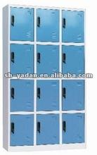 Blue color 12 door strong room lockers/knock down steel locker/commercial lockers