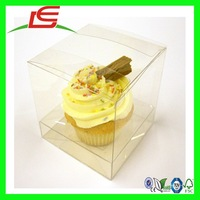 N600 Wedding Party Single Cupcake Box Clear PVC Plastic Cupcake Boxes With Insert