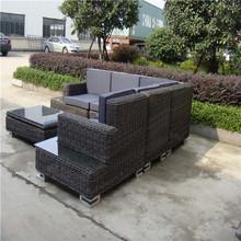 Reale di grandi dimensioni divano da giardino set rattan del pe tutti- tempo divano in rattan