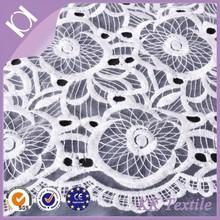 organza bottom cotton flower embroidered organza fabric
