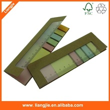 PP ruler with color paper, color paper index with PP cover