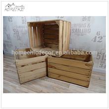 Original vintage decorative wooden wine crate for sale,fruit crate