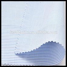slub fabric,cotton stripe fabric blue and white,100 cotton woven fabric
