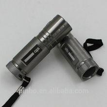 Mini Aluminum Alloy High Quality AAA 9 LED Torch with Tin Box
