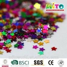 MTLP-BS025 star shape pvc confetti for kids DIY
