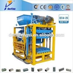 QTJ4-25C ecological brick machine soil cement/fly ash bricks/blocks making machine