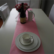 pink disposable nonwoven dining table runner