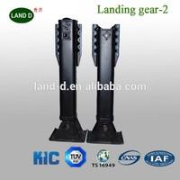 Weld Landing Gear Supplier 19'' Gearbox Inboard Two Handles 25T Heavy Truck Trailer Jacking Legs
