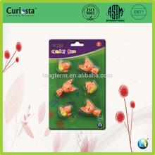 6pcs cute animal shape TPR eraser