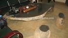 black basalt stone tea / garden table and chairs