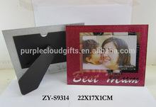 4x6 rectangle glitter crystal photo frame, picture frame, picture frame glass
