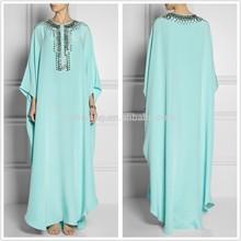 Women spring/summer chiffon beaded maxi kaftan dress SYA15040