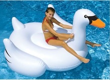 CHILDREN INFLATABLE GIANT SWAN FLAMINGO SWIMMING POOL TOY