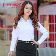 Newest 2015 Hot Products Spring Long Sleeve Plus Size Fashionable Elegant White Blouse China Online Clothes Shopping Women 5350