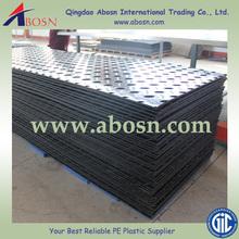 HDPE plastic roadway mat/HDPE construction road mat/HDPE black plastic ground sheet