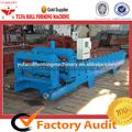 yf828 esmaltada de color teja rodillo que forma la máquina las líneas de producción