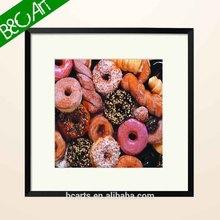 Kid ' s love sweet donut oil painting