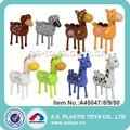 Enfants en plastique cheval/moutons./chameaux/girafe. wind up toy