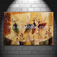 Dancing Girl Handprinted Oil Paintings on Canvas Printing