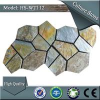 polyurethane random slate mat tile stone panel