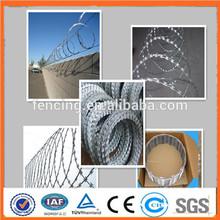 galvanized concertina razor barbed wire cross type BTO-30 (army security)
