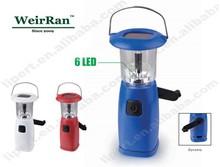 (1500181) Portable Outdoor Lantern 6 LED 3W Dynamo LED Lamp with Solar Panel