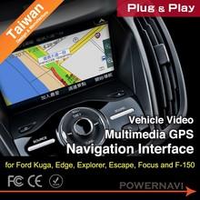 Taiwan Car Video multimedia GPS Navigation Interface for Kuga, Edge, Explorer, Escape, Focus with Plug & Play