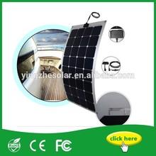 High efficiency 100W Semi flexible solar panel and Aluminium Backplane