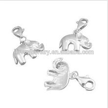 handmade cute solid plain 92 silver elephant kid jewelry charm