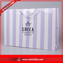 Sinicline High Quality Shoes Shopping Bag with Ribbon Handle in Custom Design