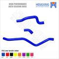 De silicona de goma del radiador kit de la manguera de YAMAHA RAPTOR 660 2002 azul 3 unids piezas