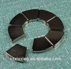 8pcs N40H arc segment magnet make a ring magnet