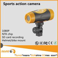 1080P NTK chip waterproof mini helmet sport action camera
