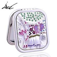 women handbag cosmetic mirror with rhinestone