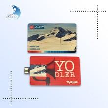 cheap price vintage offset printing custom design card pine USB 2.0 stick