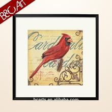 A red bird Textured Canvas Art