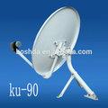 Facile installazione ku-90cm tv satellitare antenna tv ricevitore satellitare piatto