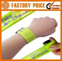 2015 Popular Sale Custom PVC Slap Bracelet Best Promotional Gifts