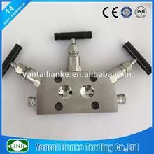 high pressure stainless steel intergral 3 Valve Manifold