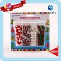 Weihnachten glas/Flasche verpackung bäckerei dekoration essbaren streusel